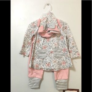 CJP Baby Girls Flower outfit with pants